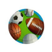 108 Units of Small Celebrate Sports Party Plates Set - Party Tableware