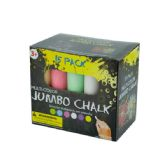 36 Units of Multi-Color Jumbo Chalk Set - Chalk,Chalkboards,Crayons