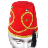 50 Units of Deluxe Red Fez Hat