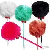 120 Units of Faux Fur Ball Pens