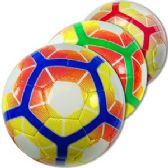 24 Units of Official Size Colorful Hexagonal Soccer Balls - Sports Toys