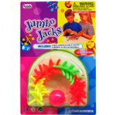 72 Units of 17 PIECE COLORED JUMBO JACKS PLAYSET IN BLISTER CARD