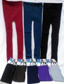 24 Units of Leggings Solid Color with Patterns - Womens Leggings
