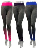 24 Units of Ombre Color Effect Leggings Assorted with Waist Bands - Womens Leggings