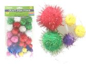 144 Units of 40pc Craft Pom Poms - CRAFT CONTAINERS   BOXES
