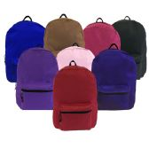 "24 Units of 17"" Backpack with Padded Straps in ASST Colors - Backpacks 17"""