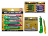 """144 Units of 6pc Box Cutter Knives 6"""" L And 5"""" L - Box Cutters and Blades"""