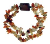 36 Units of Citrine stone stretch double bracelet - Bracelets