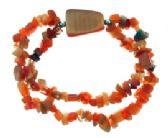 24 Units of Orange stone stretch double bracelet