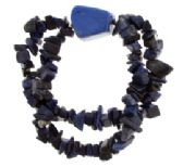 24 Units of Lapis small stone stretch double bracelet