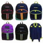 "24 Units of 17"" Multi Color Backpack"