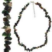36 Units of Multi stone semiprecious stone chip necklace - Necklace