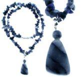 36 Units of Sodalite semi precious stone chips - Necklace