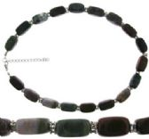 24 Units of Indian agate semi precious stone chunk bead necklace - Necklace