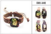 60 Units of BOB Marley Leather Bracelet