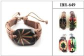 60 Units of Marijuana Leather Bracelet - Bracelets
