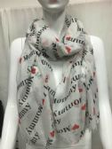 "36 Units of Ladies Summer Fashion Scarf "" I Heart Mommy """