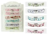 72 Units of Assorted color chain with bead dangles - Ankle Bracelets