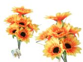 144 Units of 9 Head Sunflower Bouquet - Artificial Flowers