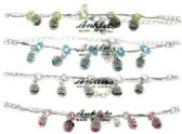 72 Units of Silver-tone chain with flower charms