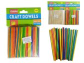 144 Units of 100 Piece Craft Dowels - Craft Wood Sticks and Dowels