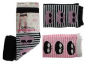 48 Units of Black, pink and white capri tights with skull and stripes designs. - Womens Tights