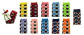 48 Units of Assorted colored thigh high socks with argyle print