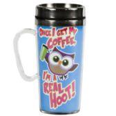 40 Units of Travel Mug 16oz Real Hoot Insulated Acrylc Ss Insert(6.00) - Coffee Mugs