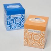 96 Units of Facial Tissue 86ct Cube 2 Ply Abstract Design - Tissues