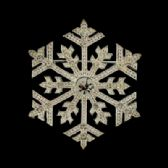 72 Units of Silver-Tone Snowflake Pin With Rhinestone accents