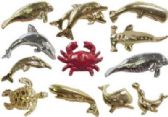 72 Units of Assorted styles gold-tone and silver-tone sea life tac pins