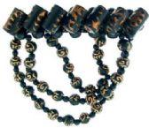 72 Units of Black acrylic beaded hair barrette - Barrett