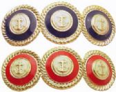 72 Units of Assorted red and blue with gold tone trim