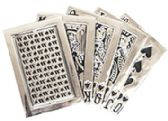 24 Units of Playing Cards Belt Buckle