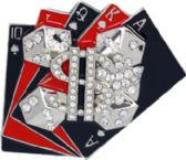 36 Units of Playing Card Belt Buckle