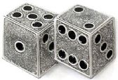 36 Units of Dice Belt Buckle