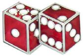 36 Units of Red Dices Belt Buckle - Belt Buckles
