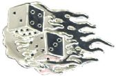 36 Units of Flame Dice Belt Buckle