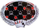 36 Units of Card Pattern Belt Buckle