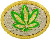 36 Units of Marijuana Leaf Belt Buckle