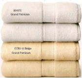 24 Units of Premium Quality GRAND PATRICIAN SUITES White Hand Towel 16 x 26 - Bath Towels