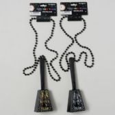 96 Units of Noisemaker Cowbell New Year Necklace - New Years