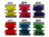 72 Units of Assorted color feather hair barrettes