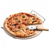 4 Units of Oven-safe Pizza Stone & Rack