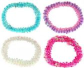 72 Units of Assorted color beaded scrunchies