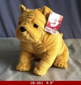 "12 Units of 9.5"" PLUSH DOG BEIGE COLOR"