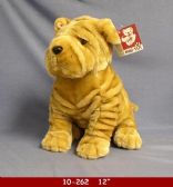 "12 Units of 12"" PLUSH DOG BEIGE COLOR"