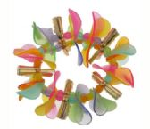 72 Units of Assorted color transparent and translucent petal beads