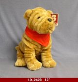 "12 Units of 12"" PLUSH DOG WITH RED BANDANNA"