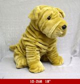 "12 Units of 18"" PLUSH DOG IN BEIGE COLOR"